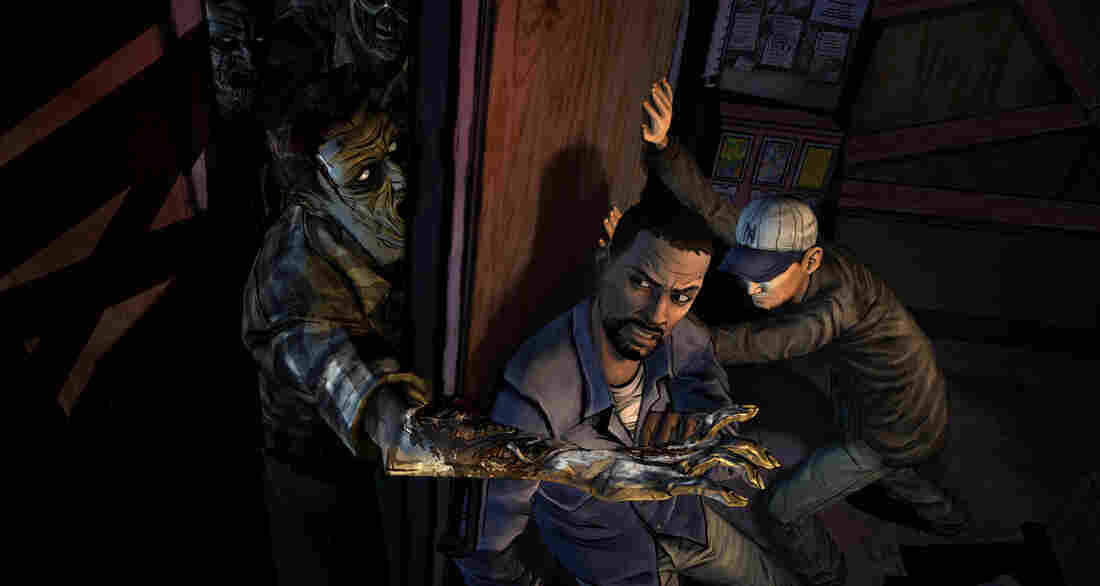 The Walking Dead, based on the hit TV series and comic book, is an example of a graphic adventure game.