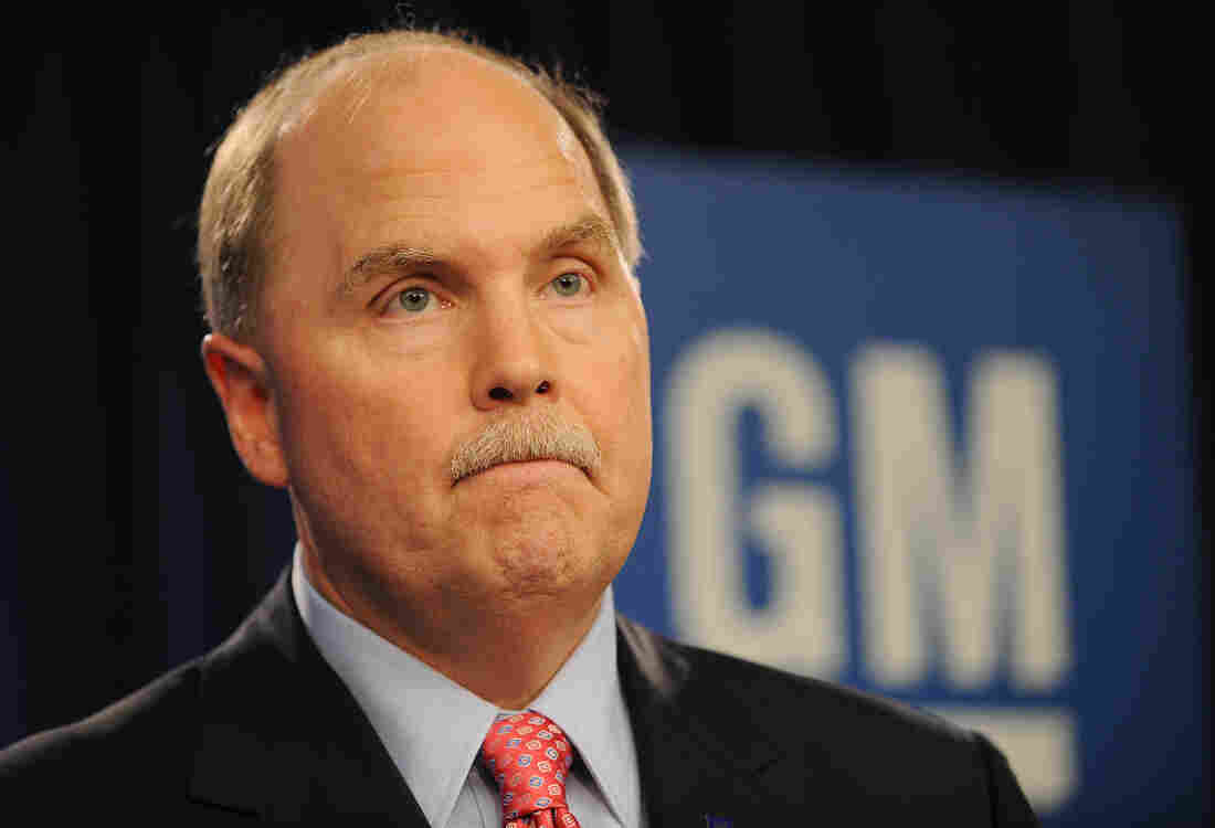 Fritz Henderson, General Motors president and CEO, during a June 1, 2009, press conference to announce that GM will seek bankruptcy protection.