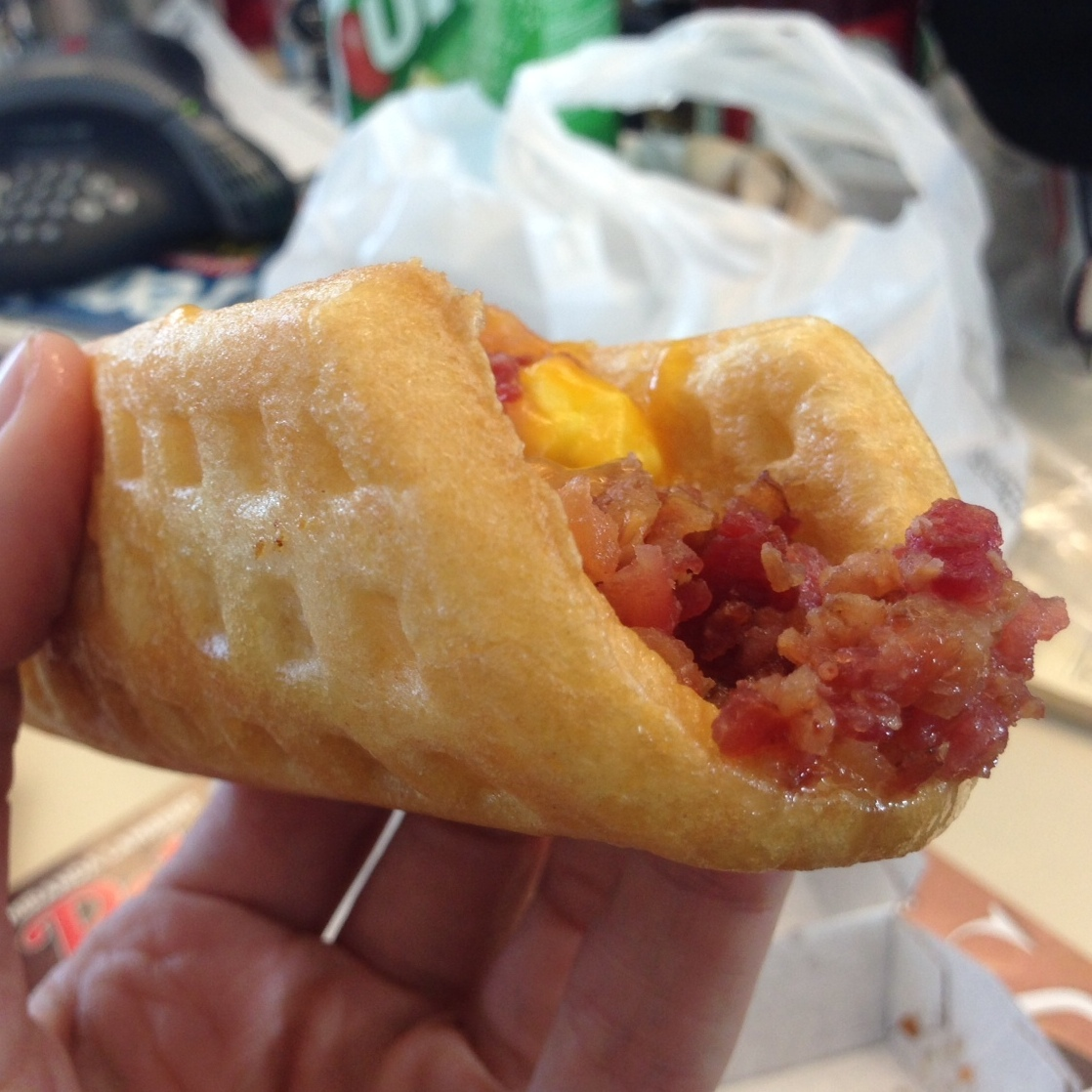 Nine out of 10 customers prefer the Waffle Taco to the Offal Taco.