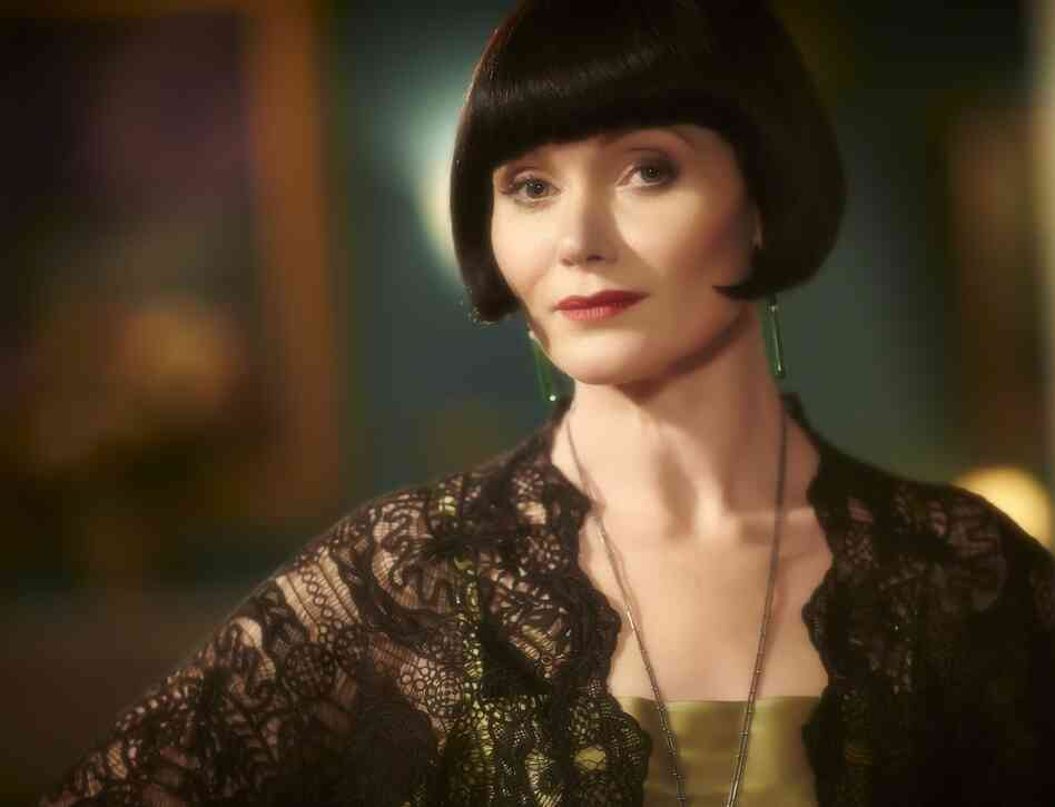 "Essie Davis has read about how Phryne is a ""hussy."" She doesn't mind."
