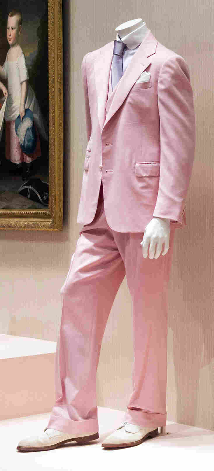 A copy of the Ralph Lauren suit made for Robert Redford in the 1974 film version of F. Scott Fitzgerald's The Great Gatsby.