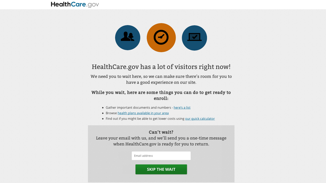 HealthCare.gov has more last-minute shoppers than it can handle.
