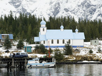 A little bit of Russia in Alaska: A Russian Orthodox Church in the village of Tatitlik.