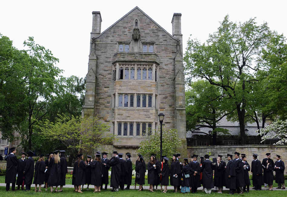 Commencement on campus of Yale University in New Haven, Conn.