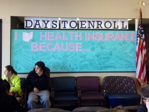 Employees crafted an inspirational billboard at the Neighborh