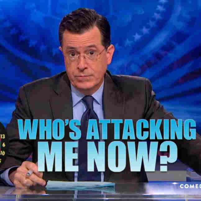 When The Twit Hit The Fan: 'I'm Still Here,' Colbert Says