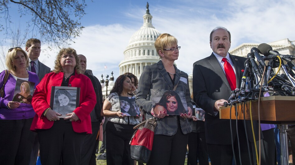 As members of Congress prepared to hear testimony from GM's CEO Tuesday, Ken and Jayne Rimer, whose daughter, Natasha Weigel, died in the crash of a 2005 Chevy Cobalt, spoke at a news conference held by family members of deceased drivers.