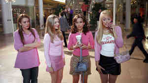 Cady Heron (played by Lindsay Lohan, left) found out the hard way that moving up into the A-list clique doesn't protect you in the movie Mean Girls.