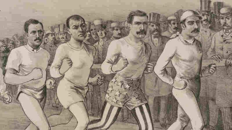 detail from cover of pedestrianism