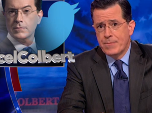 A joke Stephen Colbert made on his show last week was retweeted by Comedy Central. The joke — shorn of its context because, well, Twitter — sparked an online firestorm, and the hashtag #CancelColbert.