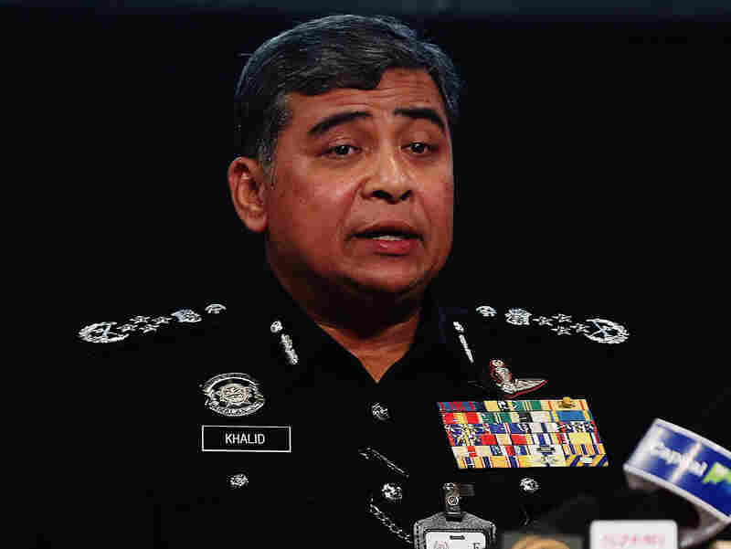 Malaysia's national police chief Khalid Abu Bakar speaks during a news conference in Kuala Lumpur, last month.
