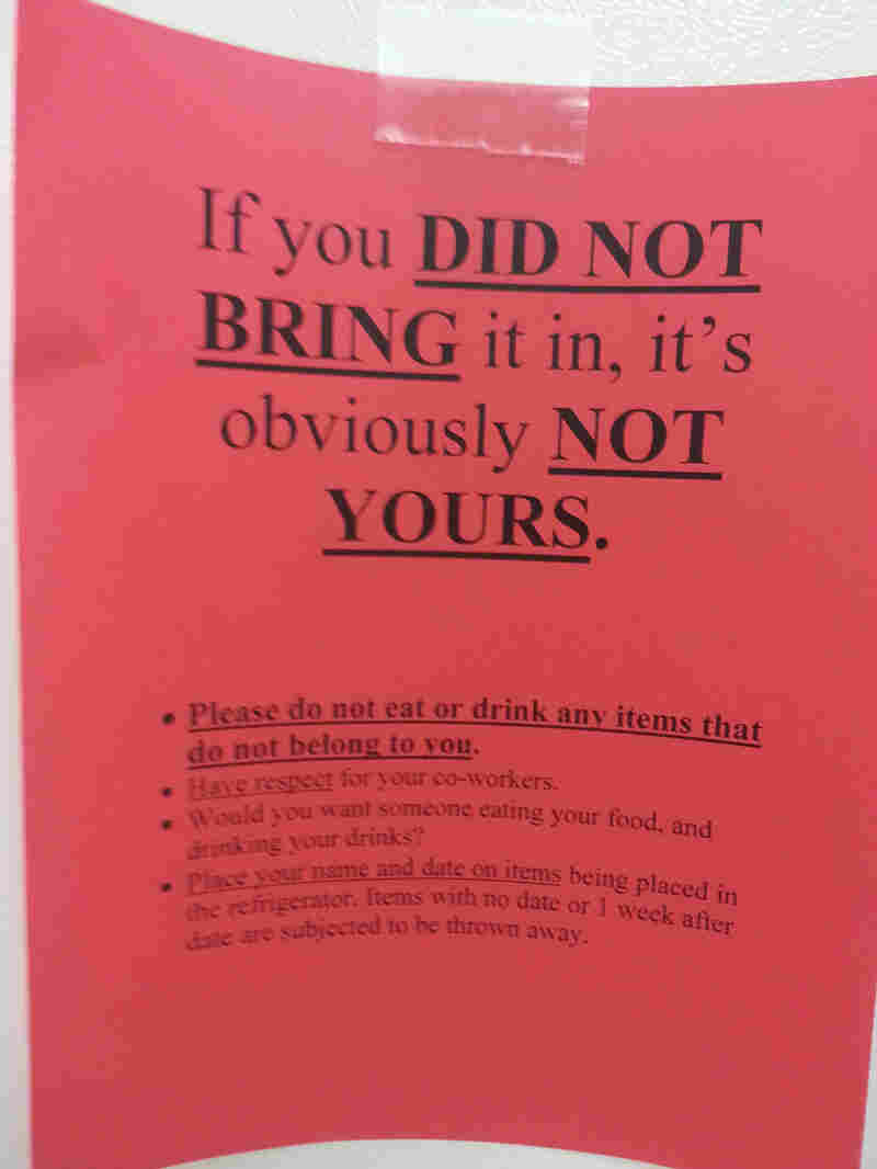 Stop Thief When Colleagues Steal From The Office Fridge The Salt