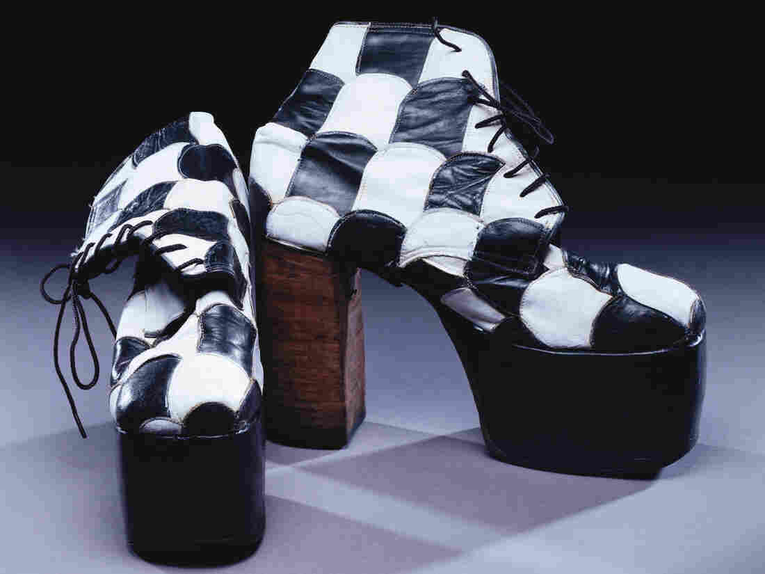 These shoes, worn by Kiss bassist Gene Simmons, say as much about the band's sound as the group's makeup and stage antics.