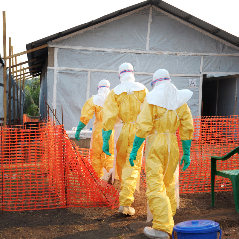 From Blue Bleach To Hazmat Hacks, Students Take On Ebola