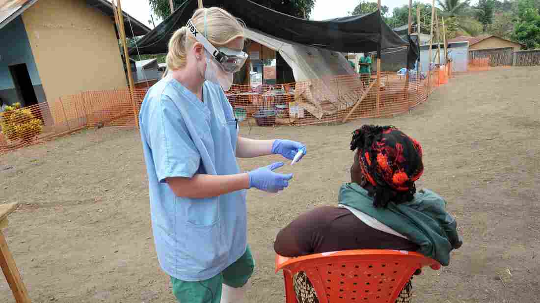 A nurse of the 'Doctors without Borders' medical aid o