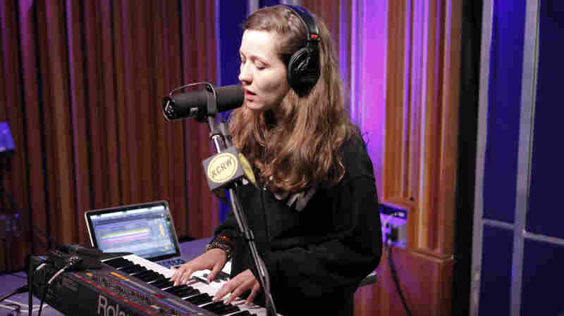 Jessy Lanza performing live in the KCRW studios.