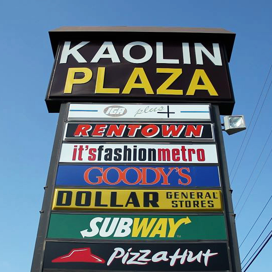 "A shopping center in Sandersville, Ga., which is known as the ""Kaolin Capital of the World."""