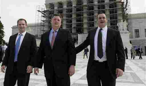 The Supreme Court victory for Republican activist Shaun McCutcheon (center) was also a win for those in the political campaign business.