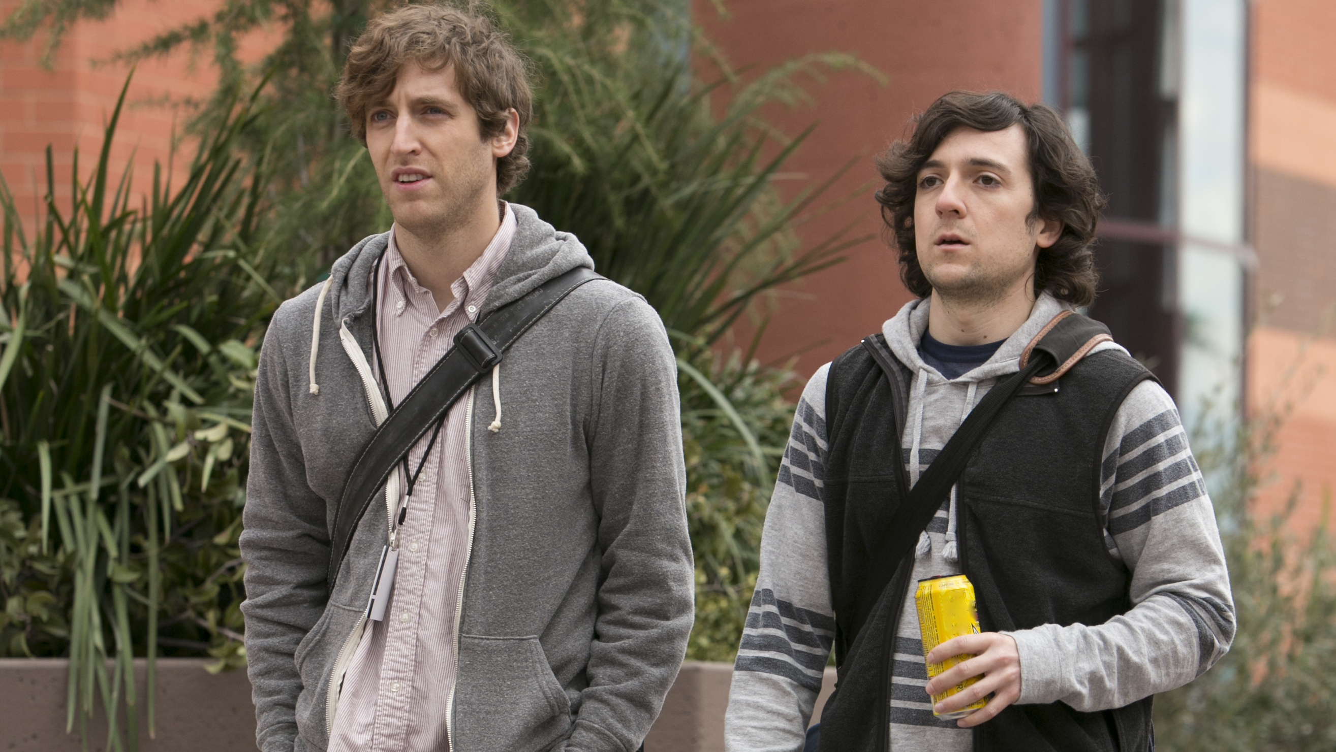 Thomas Middleditch and Josh Brener in HBO's Silicon Valley pilot.