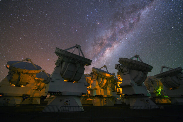 Observing the multitude of galaxies in our own universe is a piece of cake. Observing the multiverse, if such a thing exists, seems impossible. Above, the Milky Way rises above the ESO's ALMA observatory in Chile.
