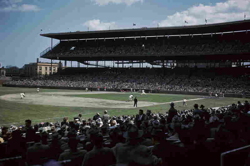 The view inside Wrigley Field during a 1959 Cubs game. The stadium was built in 1914 and celebrates its centennial th