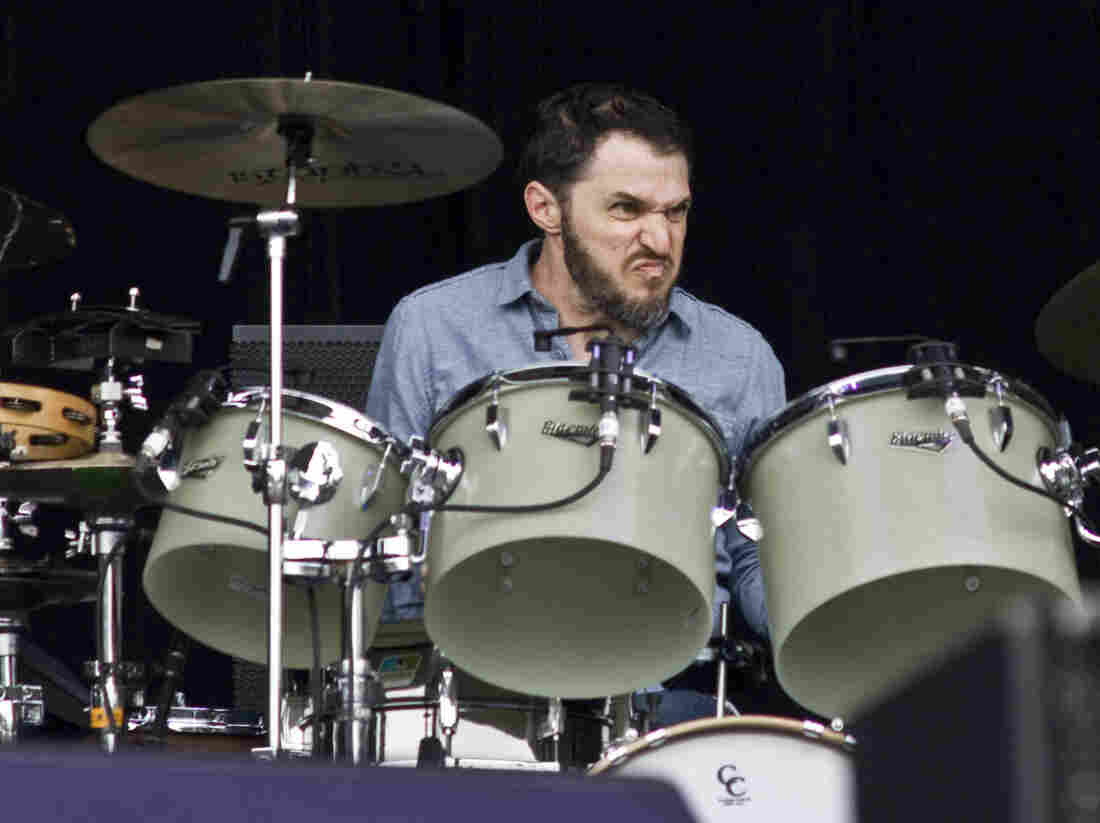 Beck drummer Joey Waronker, performing at the Outside Lands Music Festival in San Francisco in 2012.