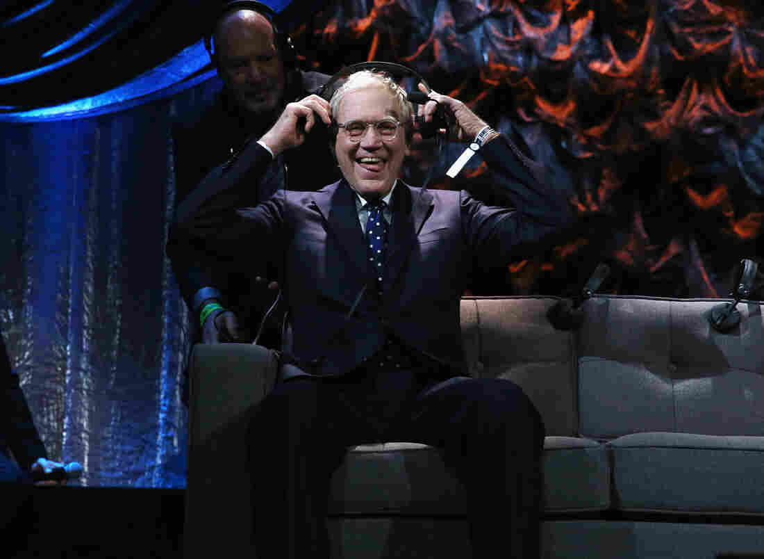 """David Letterman attends """"Howard Stern's Birthday Bash"""" presented in January."""