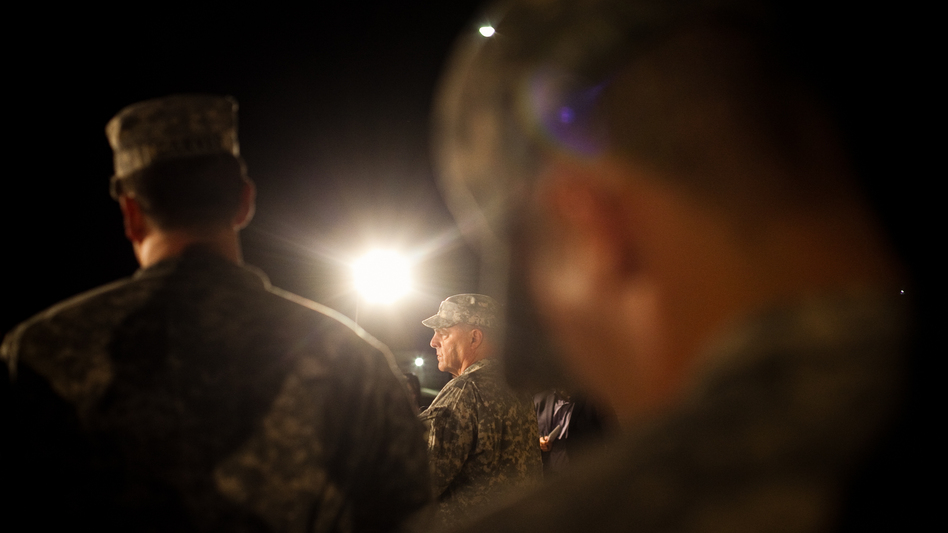 Lt. Gen. Mark Milley speaks to reporters April 2 regarding the second shooting in five years on the Fort Hood Army post in Texas. (Drew Anthony Smith/Getty Images)