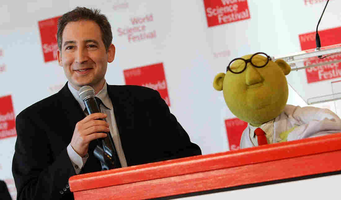 Master science communicator Brian Greene shares the spotlight with Muppet scientist Dr. Bunsen Honeydew ahead of the 2008 World Science Festival in New York City.