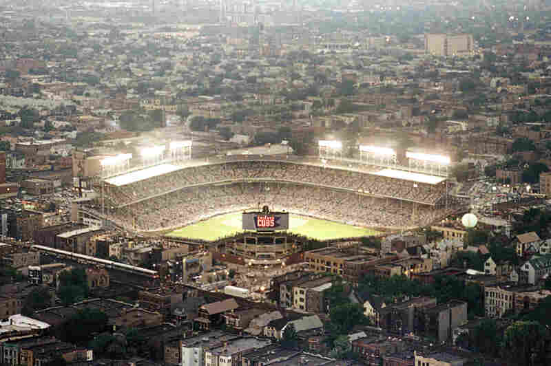 """For years, Wrigley was the only park in the majors where night games could not be played. The lights finally came on in August of 1988, although the first night game was rained out in the fourth inning — a turn of fate some fans interpreted as proof of a """"Cubs curse."""""""