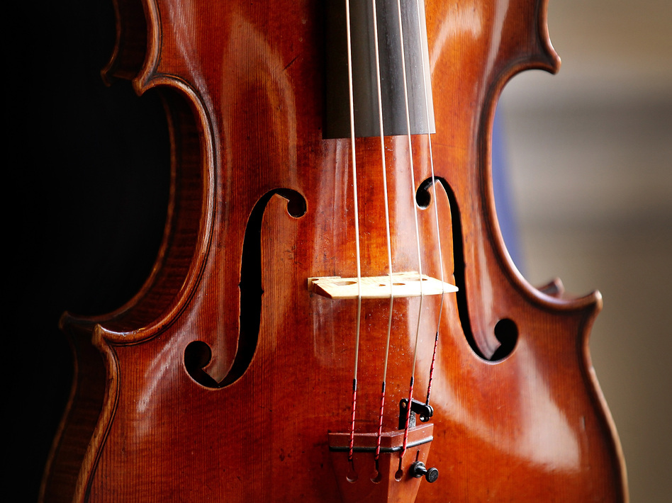 Was playing a much-maligned instrument — or writing about it beautifully — part of Kwasi Enin's secret? (Not that he is playing the 'Archinto' Stradivarius pictured here.)