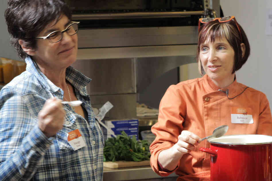 Rebecca Katz (right) is a chef who helps cancer patients learn how to eat and even enjoy food during chemo.