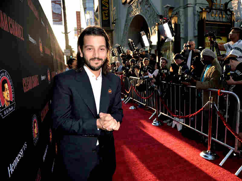Director Diego Luna arrives at the premiere of Cesar Chavez on March 20 in Los Angeles.