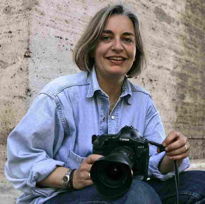 Associated Press photographer Anja Niedringhaus is seen in a 2005 photo taken in Rome. She was killed Friday in Khost, Afghanistan. AP reporter Kathy Gannon was injured. A gunman opened fire on them as they sat in a car.