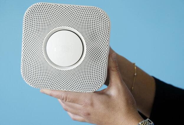 The Nest smoke and carbon monoxide alarm.