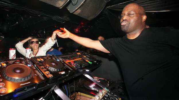 DJ Frankie Knuckles plays at the Def Mix 20th Anniversary Weekender in 2007 in London.