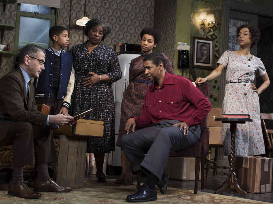 Ten years after first directing A Raisin in the Sun on Broadway, Kenny Leon is back with a new rendition of the play, starring Denzel Washington and Sophie Okonedo. (Also pictured, from left: David Cromer, Bryce Clyde Jenkins, LaTanya Richardson Jackson and Anika Noni Rose).