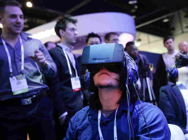 Facebook spent $2 billion on Oculus VR, a company that makes virtual reality headsets; the headsets make some people nauseous.