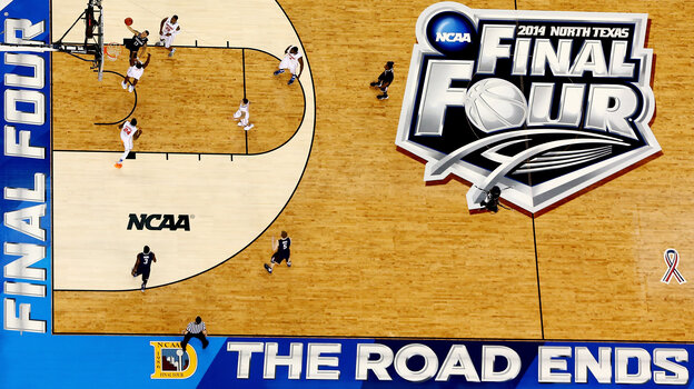 The Connecticut Huskies and Kentucky Wildcats will face off on the AT&T Stadium court in Arlington, Texas, on Monda