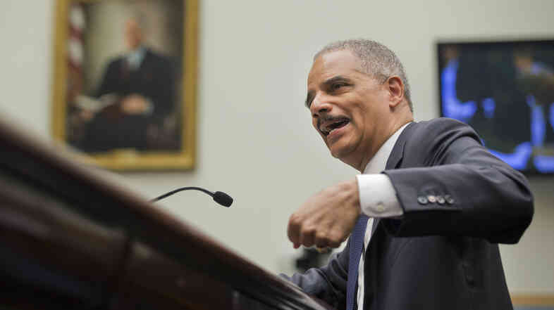 Attorney General Eric Holder testifies before the House Judiciary Committee on the oversight of the U.S. Department of Justice on Capitol Hill in Washington, Tuesday.