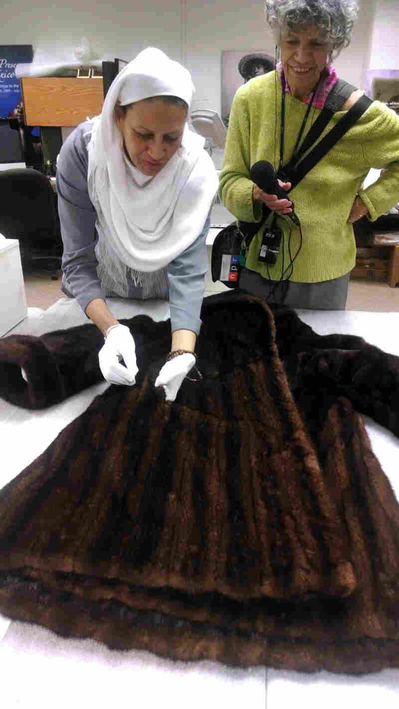 Over the outfit she wore for her April 9 concert, Anderson kept the chill April air away with a mink coat. It is now in the collections at the Smithsonian's Anacostia Community Museum, where registrar Habeebah Muhammad displayed the coat for NPR's Susan Stamberg.