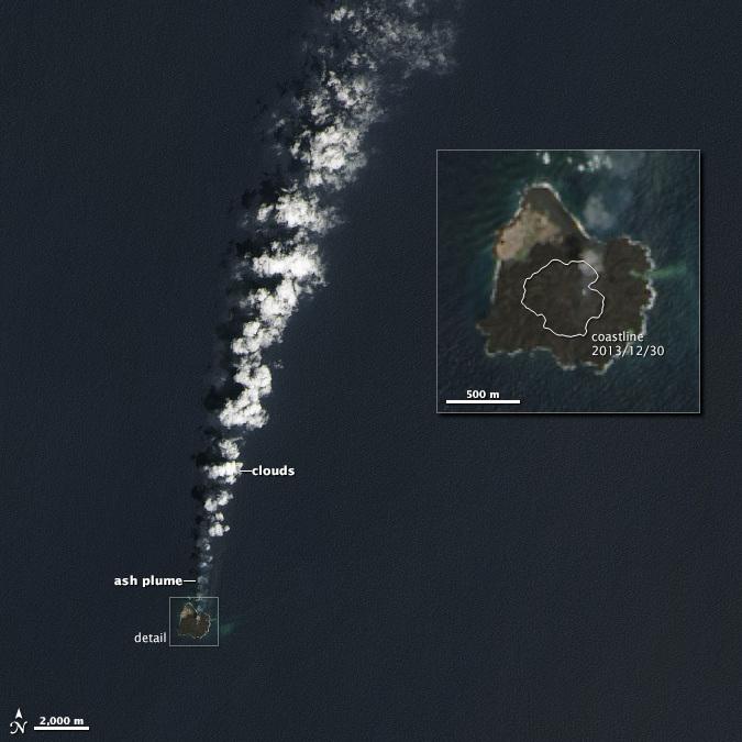 NASA Image Shows Volcanic Island Has Annexed Its Neighbor