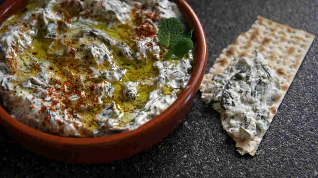 Mint And Spinach Dip With Lebneh