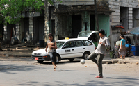 Yangon's colonial heart has a vibrant street life - unlike some of the tourist districts in other East Asian countries.
