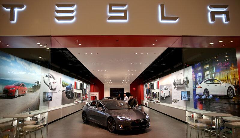 Tesla Swings At Direct-Sale Bans As Bigger Fight Awaits : NPR