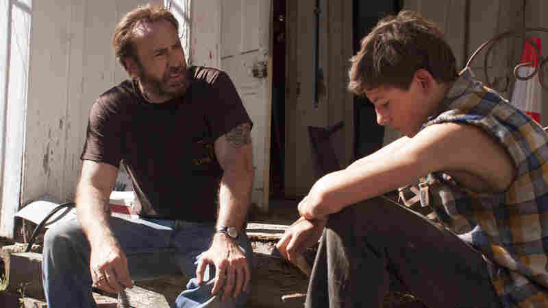 Nicolas Cage (left) and Tye Sheridan star in the film adaptation of Larry Brown's 1991 novel, Joe.