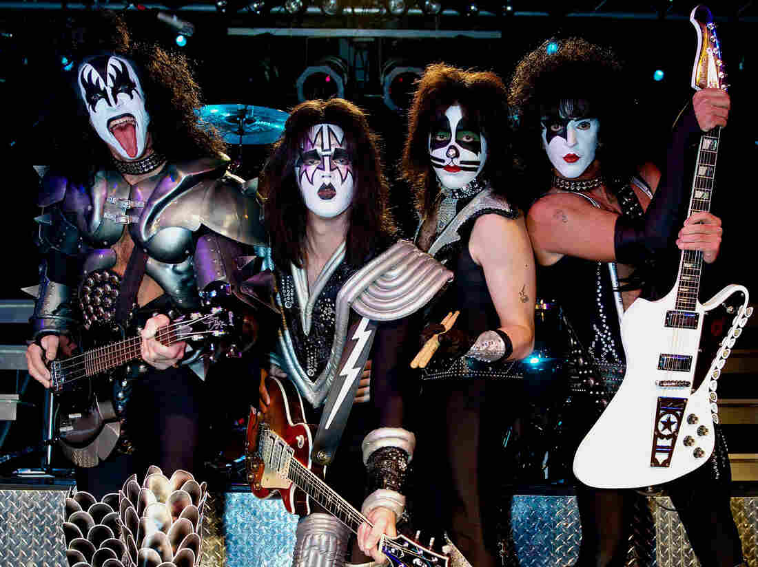 """""""We're fans, just like the people that come to see us,"""" says Rich Kosak (far right), who plays the role of KISS vocalist Paul Stanley in the Ohio tribute band Mr. Speed."""