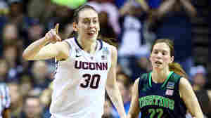 They're No. 1: Breanna Stewart of the Connecticut Huskies reacts after a score during Tuesday night's game against Notre Dame. Her team won its ninth national championship.