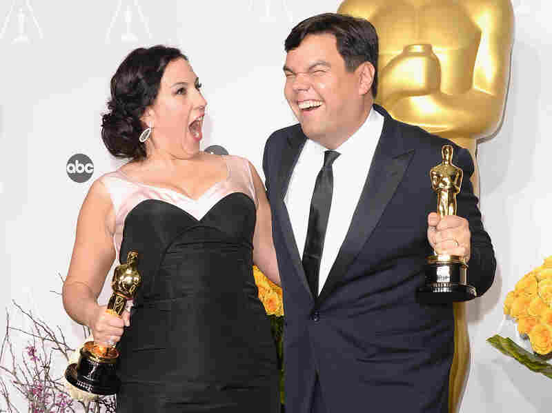 Oscar-winning songwriters Kristen Anderson-Lopez and Robert Lopez.