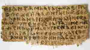 This Sept. 5, 2012, photo released by Harvard University shows the papyrus fragment.